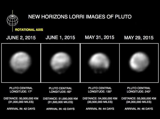 New Horizons muestra las diferentes caras de Plutón en unas nuevas imágenes. (NASA)