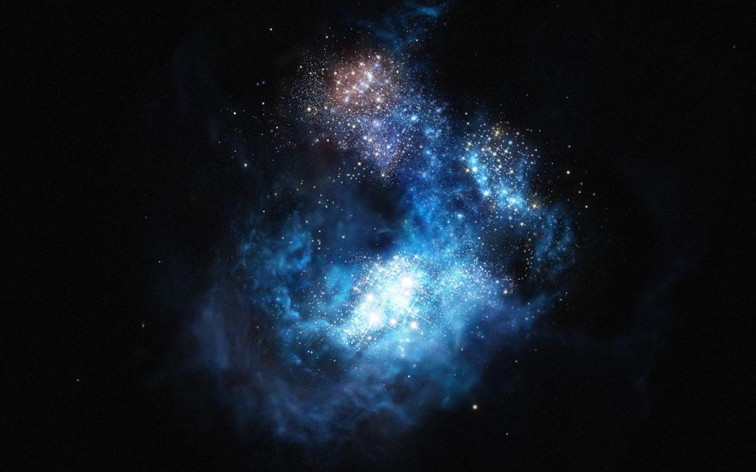 El VLT descubre CR7, la galaxia lejana más brillante