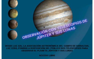 Observación astronómica urbana. 8 de Junio 2018, Los Barrios (Cádiz)