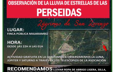Perseidas 2019. Castellar martes 13 de Agosto.